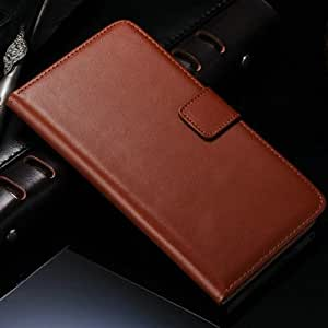Stand Wallet Design Genuine Leather Case For SONY Xperia Z1 L39H C6902 C6903 C6906 Mobile Phone Bag Cover With Card Holder --- Color:White