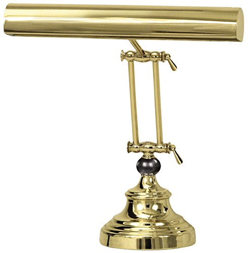 "House of Troy AP14-42-61 Advent Piano/Desk Lamp, 14"", Polished Brass"