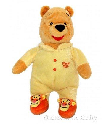 Doudou peluche 45 cm Winnie the Pooh - pijama amarillo Zapatillas ...
