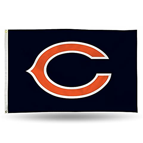 NFL Chicago Bears Banner Flag 3-Foot by 5-Foot - Cloth Flag