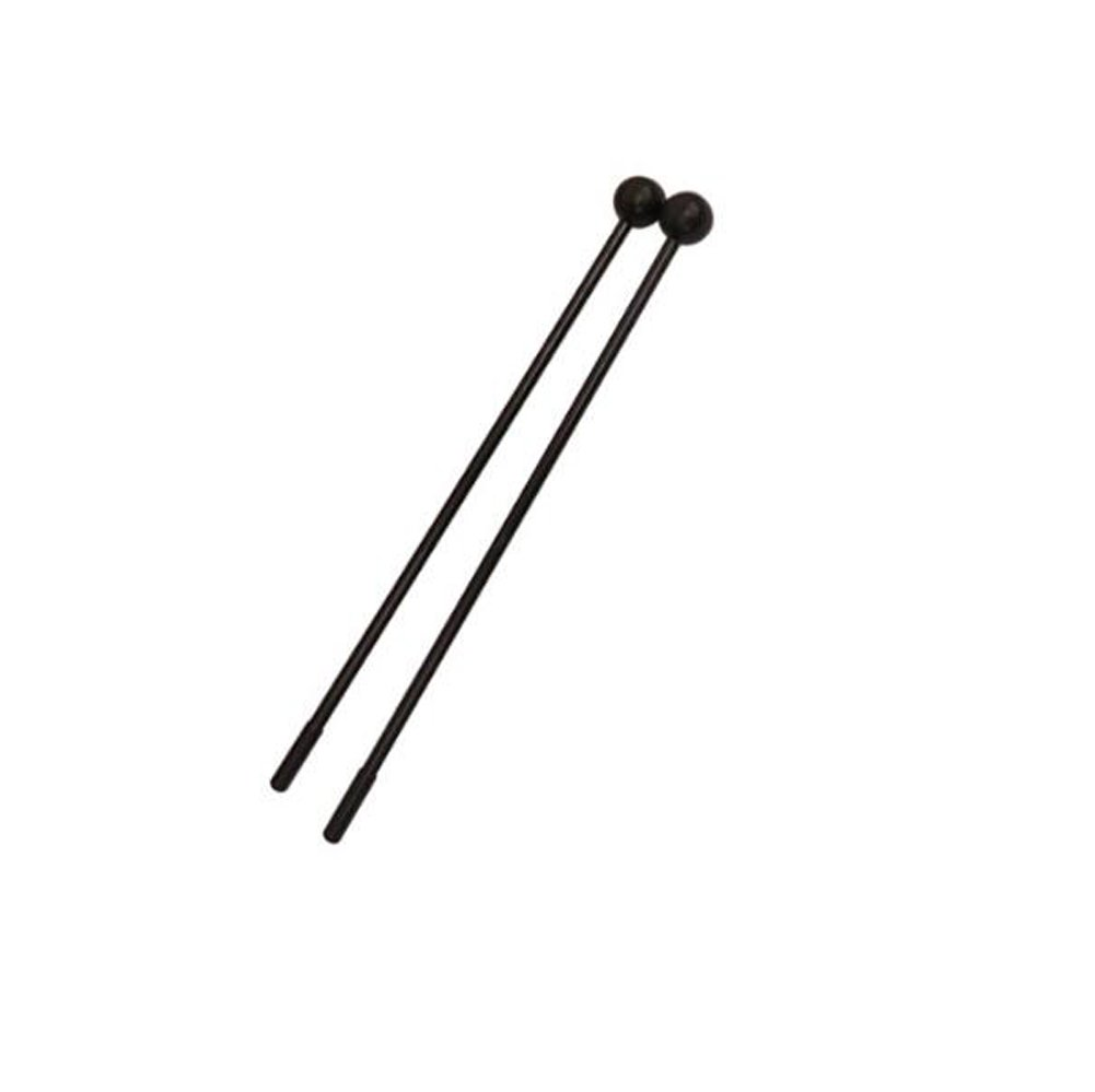 1Pair Black 11 Soft Plastic Mallets for Timber Drum Marimba and Xylophone Black