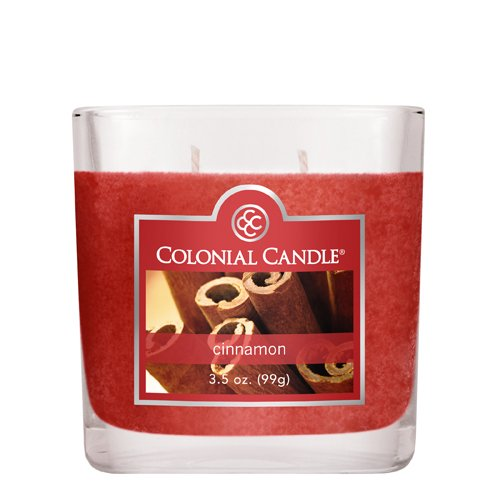 Colonial Candle 3-1/2-Ounce Scented Oval Jar Candle, Cinnamon
