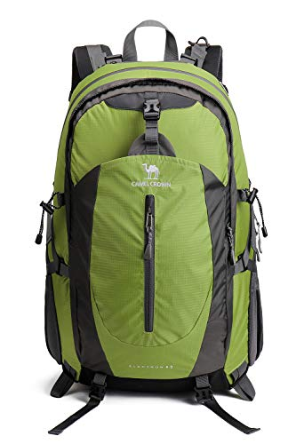CAMELSPORTS 40L Lightweight Daypack Backpack with Rain Cover Traveling Hike Backpacks for Mens/Women Travelers Green