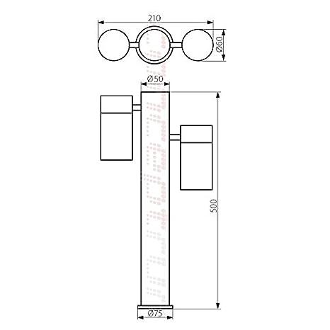 Warmwei/ß Form:S11 LED Standleuchte Sockelleuchte Pollerleuchte Wegleuchte Edelstahl Au/ßenleuchte IP44 GU10-230V