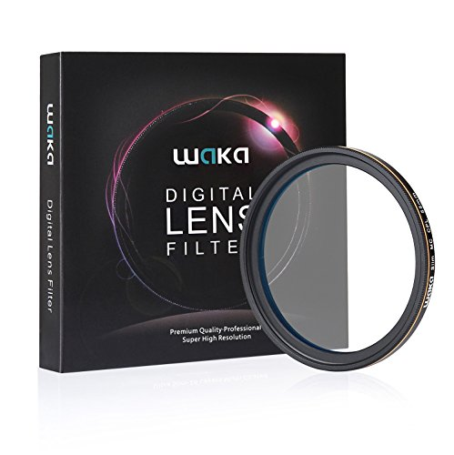 waka 55mm CPL Circular Polarizing Lens Filter, Ultra Slim MRC 16 Layers Polarizing Glass Filter for Outdoor Photography