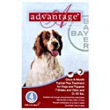 Advantage Red Medium 21lb - 55lb 4pk