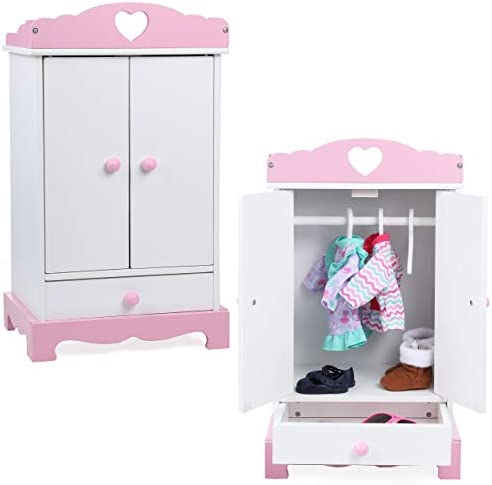 Dollhouse Bedroom Furniture Closet Wardrobe Fit For Girl Dolls