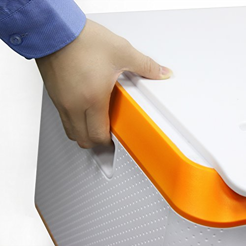 EVERTOP Extra Large Deck Box for Home, Office, Car, White with Code Lock (A-Orange) by EVERTOP (Image #5)