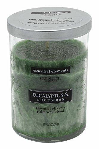 (Candle Lite–Large Jar Candle, Eucalyptus & Cucumber 283g/8.5x 8.5x 12cm)