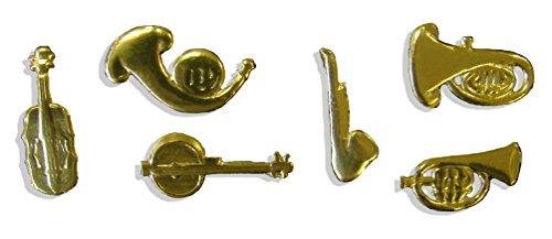 Kunze 38-Piece Dresden Music Instruments Assortment, Gold