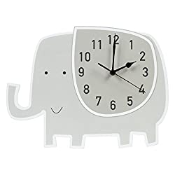 Trend Lab Elephant Wall Clock, Gray