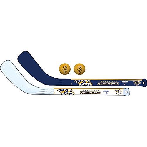 Franklin Sports NHL Nashville Predators Mini Hockey 2 Piece Player Stick Set -