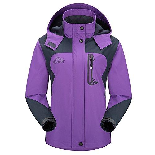 Diamond Candy Sportswear Women's Hooded Softshell Raincoat Waterproof Jacket P 5 M