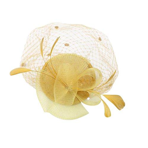 MonkeyJack Vintage 20s Gatsby Feather Party Hat Clips Fascinator Charleston Party Headwear - - Charleston Headwear