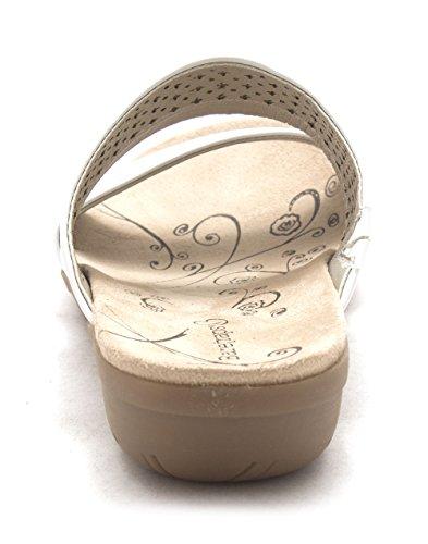 BareTraps Bare Traps Womens Jimina Open Toe Casual Slide Sandals White frbYBl8