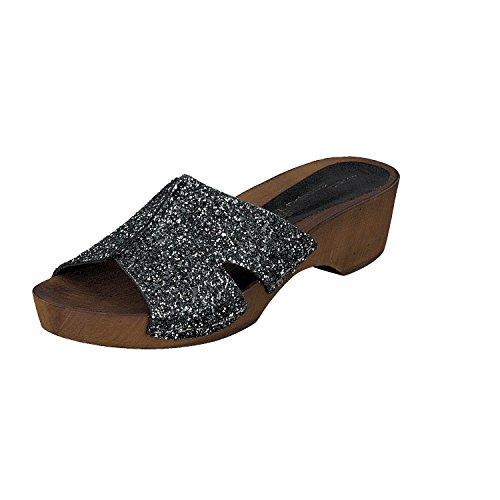 Sandalias Cuero Scarpa de Panaji negro Linea Mujer Negro Zuecos madera XB4FaOqw