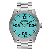 Nixon Corporal SS A346-2460-00 Blue / Silver Stainless Steel Analog Quartz Men's Watch