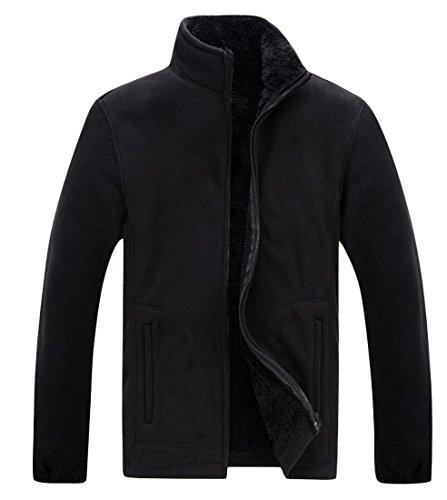 Jacket Stand amp;W amp;S Collar Coat Zipper Black Sweater Men's M Warm 0xTIH