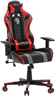 Cadeira Gamer Black Hawk com Apoio Cervical - Encosto Reclinável - Descansa Braços - Ajuste de Altura - CH05BK