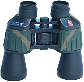 Binger CB750 7X50 Porro Prism Wide Angle Binoculars BK 7 Prism Fully Coated Optics High Definition Bird Watching Astronomical Viewing Hiking Outdoor Sports