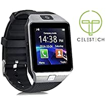 Celestech SM-WS01 Health and Activity Tracker Digital Smart Watch (Black)