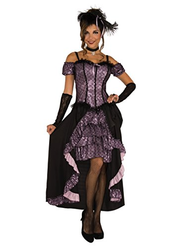 Rubie's Women's Dance Hall Mistress Costume, As Shown, (Dance Hall Costumes Halloween)