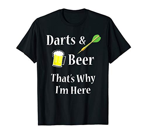 Darts Beer Funny T-Shirt for Dart Player