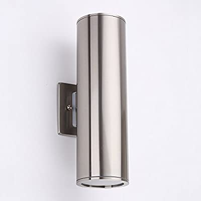 Outdoor Wall Lamp - Housen Solutions Waterproof Porch Light Modern Wall Sconce Light Fixture, Stainless Steel 304 Cylinder, UL Listed, IP64, Ideal for Garden and Patio