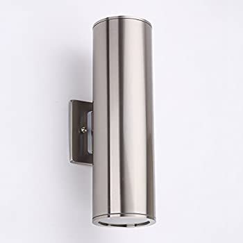 Outdoor Sconce Lights Sunsbell waterproof up down cylinder wall sconce lighting indoor outdoor wall lamp housen solutions waterproof porch light modern wall sconce light fixture stainless workwithnaturefo