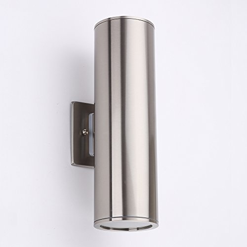 DAKYUE Waterproof Cylinder Porch Light Outdoor Wall Sconce, C-UL US Listed, Stainless Steel, Ideal for Garden and - Sconce Down Light 2