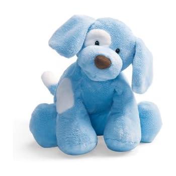 Amazoncom Baby Gund Spunky Dog Stuffed Animal Plush Blue 10