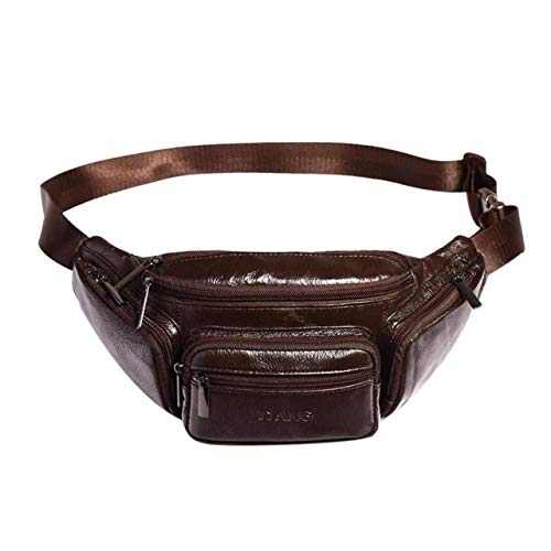 Blue-Ocean-11 - Solid Color Shoulder Waist Bag Sports Phone Belt Fanny Packs Men Casual Leather Crossbody Chest Bag Running Bags Bolsas Mujer