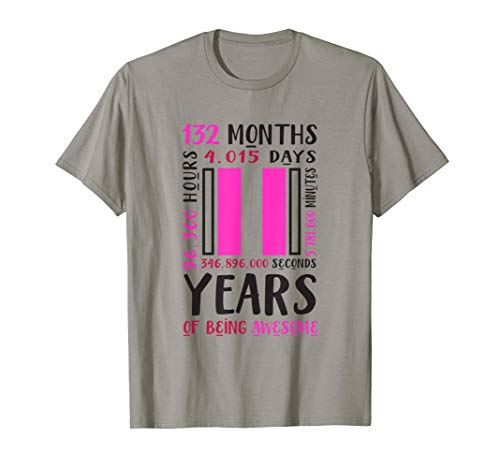11th Birthday Shirt Girls Gifts 11 Year Old Daughter Niece T-Shirt