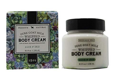 Aloe Body Milk - Beekman 1802 Pure Goat Milk Whipped Body Cream 8.0 fl oz. (Aloe & Iris)