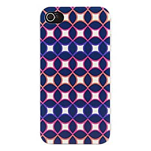 WQQ Special Design Navy Artistic Pattern Protective Hard Case for iPhone 4/4S