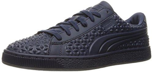 Dia Baskets (PUMA Men's Basket Classic Dia Emboss Fashion Sneaker, Peacoat/Peacoat, 10 M US)