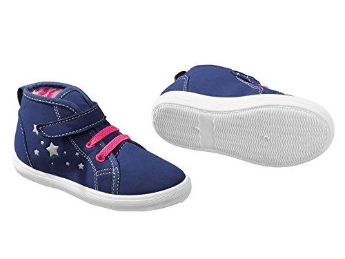 Kleinkinder Mädchen Sneaker Farbe. Dunkelblau/Pink Gr.30