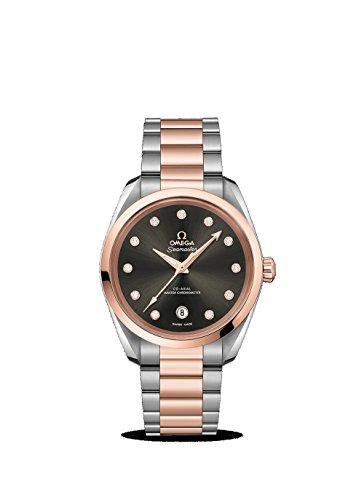 Diamonds Watch Womens 20 (Omega Seamaster Aqua Terra Glossy Grey Diamond Dial Ladies Watch 220.20.38.20.56.001)