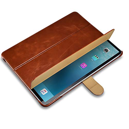"""Burkley Case Turner Premium Genuine Leather Smart Leather Folio Cover with Magnetic Flap Compatible with iPad Pro 12.9"""" (4TH Gen 2020 Version) (Brown)"""