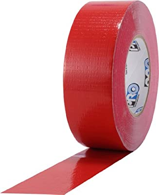"ProTapes Pro Duct 110 PE-Coated Cloth General Purpose Duct Tape, 60 yds Length x 3"" Width, Red (Pack of 1)"