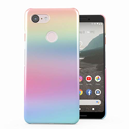 Trippy Rainbow Color Spectrum Plastic Phone Snap On Back Case Cover Shell Compatible with Google Pixel 3 -
