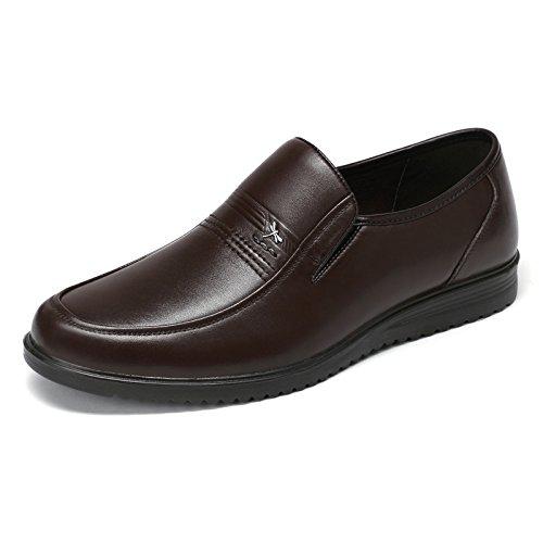 Aemember scarpe da uomo Business Casual Scarpe, Scarpe da uomo messo piede gran numero ,40, marrone
