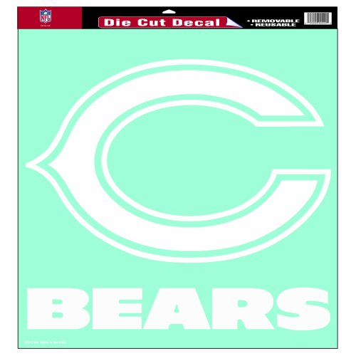 NFL Chicago Bears 18-by-18-Inch Diecut Decal (Large Chicago Bears Window Decal compare prices)