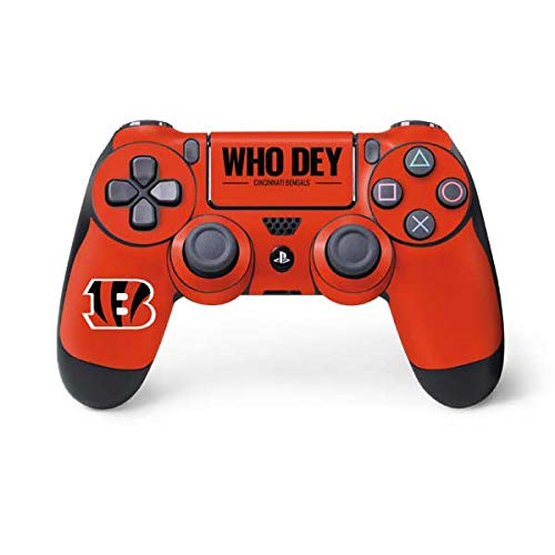 Skinit Cincinnati Bengals Team Motto PS4 Controller Skin - Officially Licensed NFL PS4 Decal - Ultra Thin, Lightweight Vinyl Decal Protective -