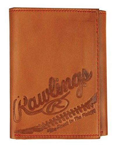 Rawlings Men's Fielder's Choice Trifold, Tan (Twill Tri Fold Wallet)