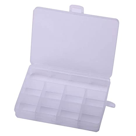 2 X Plastic Storage Box 12 slots Personal Organizer Storage Box Vitamine Container Medicine Pill Box