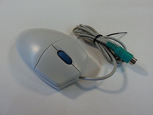 Genica Two Button Scroll Wheel Ball Mouse PS2 Gray Wired GN-SM110