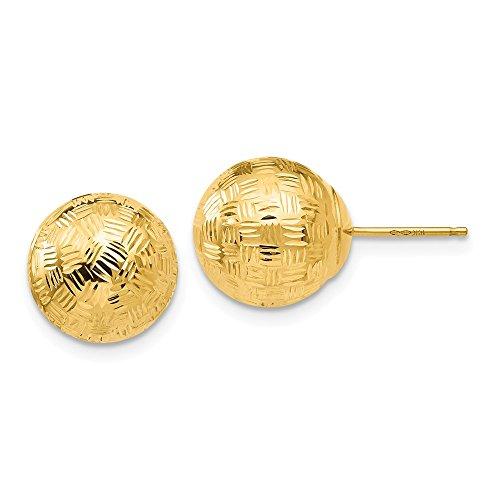 14K Gold Round 10mm Groove...