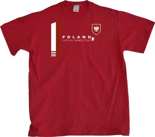 Poland National Drinking Team Adult Unisex T-shirt / Polish Pride Tee (Polish National Soccer Team compare prices)