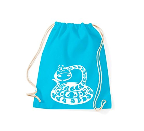 Shirtstown - Bolso de tela de algodón para mujer turquesa